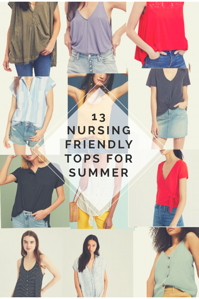 Nursing Friendly Tops | Breastfeeding Fashion | Mom Style | Mom Fashion | Summer Style